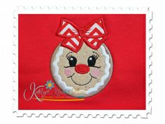 Gingerbread Girl Applique for Machine Embroidery