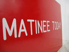 Vintage Red & White Matinee Sign  Retro Hermes by DivineOrders, $29.00