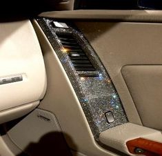 So, apparently this is Swarovski crystals in a car's interior side panel.. But I am such a Nerd, I thought it was something from the Bridge of the Enterprise circa Next Generation. Lol