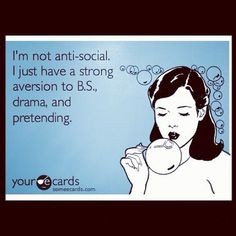 Antisocial for all the right reasons.