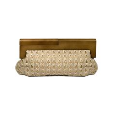 Oatmeal/Gold Woven Straw Clutch by Steve Madden