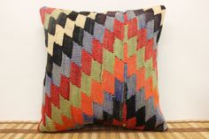 Embroided Pillow Natural Pillow 16x16  High by ANATOLIANRUGS