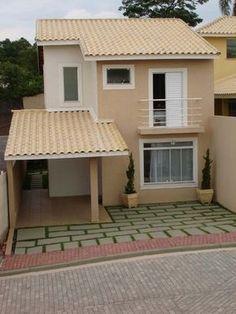 Apartment exterior color dream homes Ideas Bungalow House Design, Tiny House Design, Modern House Design, Duplex House Plans, Small House Plans, Simple House Design, Facade House, House Front, Future House