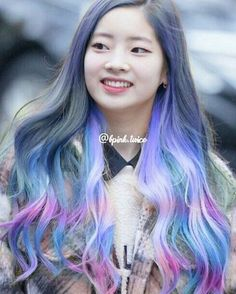 170102 Dahyunie ㅡ To anyone who want request hair recolor of your idol just comment on our request box ty -random tag- Admin ; Kpop Girl Groups, Korean Girl Groups, Kpop Girls, Kpop Hair Color, Twice Korean, Twice Dahyun, Ombre Hair, Japanese Girl, Pop Fashion