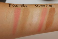 Dupe or Dud: IT Cosmetics Vitality Face Disk vs. Crown Brush Blush! Bronze!! Illuminate!!!