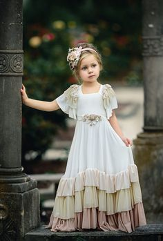 Angel Wing by Irina Chernousova on wedding kids outfit Dresses Kids Girl, Little Girl Dresses, Kids Outfits, Flower Girl Dresses, Frock Design, Toddler Dress, Baby Dress, Little Girl Fashion, Kids Fashion