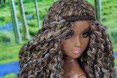My Froggy Stuff: How to Make a Doll Yarn Wig : Easy