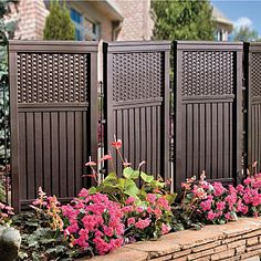 Woven Resin Privacy Screen