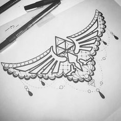 Been messing around with cute, lacy stuff. I'd like to tattoo this #triforce sternum design! Email me if you are interested isashahptattoo@gmail.com #loz #legendofzelda #gamerink #gamertattoos