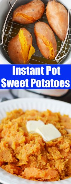 Instant Pot Sweet Potatoes - The fastest and easiest way to cook sweet potatoes! They are ready in 30 minutes and come out perfectly silky smooth every time!