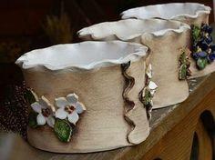 Blogy - Všichni Ceramic Pots, Ceramic Clay, Porcelain Ceramics, Ceramic Flowers, Pottery Pots, Slab Pottery, Ceramic Pottery, Clay Box, Pottery Handbuilding