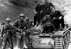 2.WW, Balkans campaign 'Operation Marita' from 06.April 1941 on. (Yugoslavia -17April) / Theatre of war: German soldiers with a caputred yugoslav tank on the road to Sarajevo. No further information. - ca. - Vintage property of ullstein bild - pin by Paolo Marzioli
