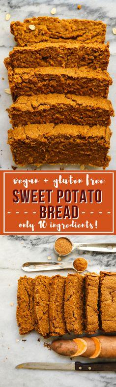 Sweet Potato Bread Gluten Free Vegan