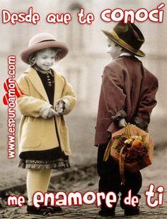 Imagen de amor con pareja de niños enamorados con frase de amor para dedicar en facebook - http://espuroamor.com/2014/05/imagen-de-amor-con-pareja-de-ninos-enamorados-con-frase-de-amor-para-dedicar-en-facebook.html #Frasesparaenamorar, #Imagenesdeamor, #Imagenesdeparejas