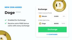 Dogecoin $DOGE - an open source peer-to-peer digital currency - is now added for exchange on MyCointainer  Stake your favorite coins & receive FREE BONUS for every purchase! Open Source, Doge, The Selection, Coins, Ads, Digital, Coining, Rooms