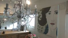 Hvit dame 100*100 cm Chandelier, Ceiling Lights, Lighting, Home Decor, Pictures, Candelabra, Decoration Home, Room Decor, Chandeliers