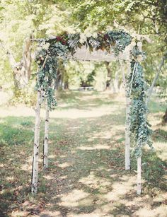 garland-covered arbor