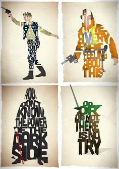 Love the word art! Geeks, Star Wars Quotes, Star War 3, The Force Is Strong, Geek Art, Typography Inspiration, Star Wars Art, Word Art, Nerdy