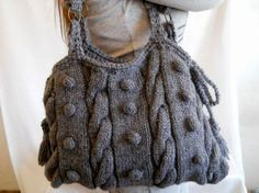 Grey Knitted Bag.