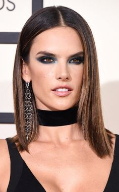 Alessandra Ambrosio from Best Beauty at the 2016 Grammys  The model took an emerald twist on the usual smoky eye and the combination was a huge success.