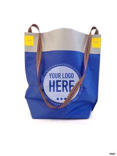 Design e produzione di shopping bags particolari dal design unico : RISVOLTINA | Oro metallico opaco & grigio
