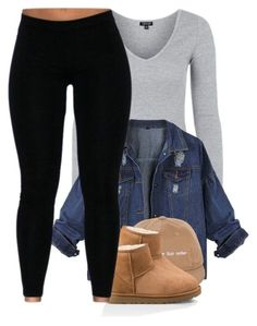Tell is that Deja vi by l-ondonbridge ❤ liked on Polyvore featuring Topshop and UGG