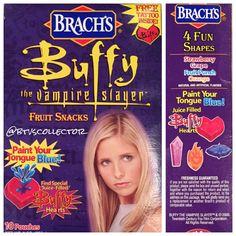 Buffy the Vampire Slayer Fruit Snacks from Brach's. #btvscollector #buffy #btvs #buffythevampireslayer