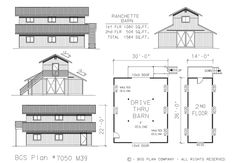 Barn plans country garage plans and workshop plans for 30x36 garage plans