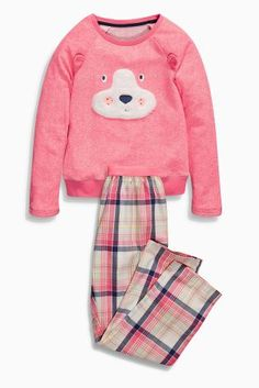 Buy Pink/Navy Dog Check Pyjamas from the Next UK online shop