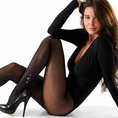 Sexy black pantyhose and black leotard Pantyhose Fashion, Nylons And Pantyhose, Sexy Women, Women Legs, Bodies, Leggings, Sexy Stockings, Stockings Lingerie, Black Tights