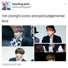 HAHAHAH THESE FACE YOONGI IS THE MOST ADORABLE!