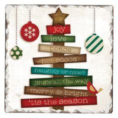 Christmas Wood, Christmas Projects, Holiday Crafts, Christmas 2017, Holiday Decor, Stone Coasters, Jingle All The Way, Christmas Decorations, Christmas Ornaments