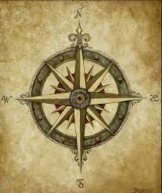 Old fashioned or traditional compass design