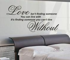Love isn't finding wall art sticker quote - 4 sizes - Bedroom wall stickers wa07 | eBay