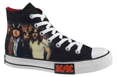 AC/DC & Metallica x Converse Chuck Taylor All Star Hi: Releasing starting this month are two packs featuring some of metal's most popular acts in Converse All Star, Dc Converse, Converse Chuck Taylor All Star, Bon Scott, Angus Young, Chuck Taylors, Ac Dc, Metallica, Phil Rudd