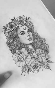 (notitle) - Tattoo - You are in the right place about tattoo drawings creative Here Pencil Art Drawings, Art Drawings Sketches, Tattoo Sketches, Tattoo Drawings, Body Art Tattoos, Tattoo Art, Easy Drawings, Full Sleeve Tattoo Design, Full Sleeve Tattoos