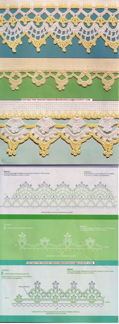 Crochet Lace Trim Border Edging