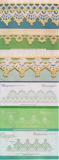 Crochet Lace Trim Border Edging