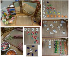 "Numeral recognition, counting and sorting with sea-related loose parts - from Rachel ("",)"