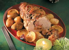Greek Recipes, Pork Recipes, Healthy Recipes, Healthy Food, Goodies, Meat, Vegetables, Cooking, Christmas Ideas