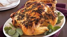 Enjoy this aromatic roasted chicken stuffed with apple for a hearty dinner.