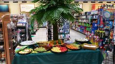 Having a tropical theme party? We can bring the Pineapple Tree! and fruit trays! Fruit Trays, Corporate Events, Event Planning, Catering, Party Themes, Pineapple, Tropical, Backyard, Table Decorations