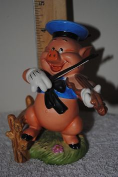 Disney WDCC Loose Figure 3 Three Little Pigs Hey Diddle Diddle I Play My Fiddle | eBay