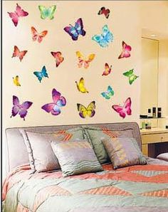 monchiichi provide butterflies childrens wall stickers, individual butterfly wall stickers in high quality, cute zebra wall stickers and classical art deco wall stickers for you to choose, use art stickers for walls to decorate your walls. Childrens Stickers, Butterfly Wall Stickers, Diy Butterfly, Butterfly House, Removable Wall Stickers, Home Wallpaper, Girls Bedroom, Bedroom Ideas, Wall Decor