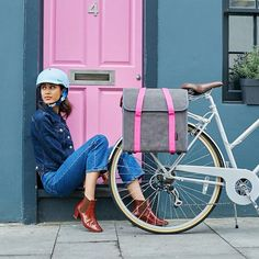 Neon pink accents will cheer up a winter cycling wardrobe RG @cyclechic_uk
