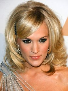 medium short hairstyles | Hairstyles Medium-Length-Layered-Hairstyles-Carrie-Underwood – Short ...