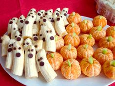 Hand out healthy options such as fruit, 100 calorie snack packs, granola bars and baked chips #YouQueen #Halloween #banana