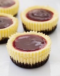 Mini Black-Bottom Cheesecakes. Made these and loved them