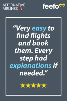Find out what genuine customers say about Alternative Airlines ✈ Choose from over 600 airlines, 25 payment methods and 160 currencies. Airline Reviews, Flight Search, Travel Agency, Alternative, Sayings, Books, Libros, Lyrics