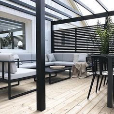 Backyard Pergola Plans - Pergola Attached To House Garden Structures - - Pergola Garten - Pergola Deck Lights - Pergola Terrasse Plexi Patio Pergola, Backyard Patio, Pergola Kits, Backyard Ideas, Patio Decks, Decking, Patio Deck Designs, Patio Design, Black Pergola